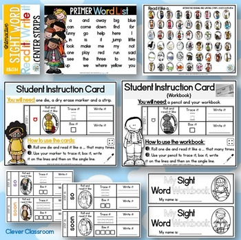 Sight Word Read It and Write It Strips PRIMER