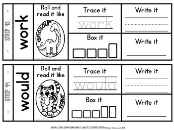 Sight Word Read It and Write It Strips SECOND GRADE