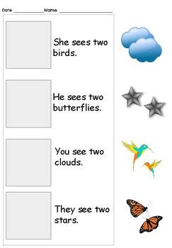 Sight Word: Read & Match
