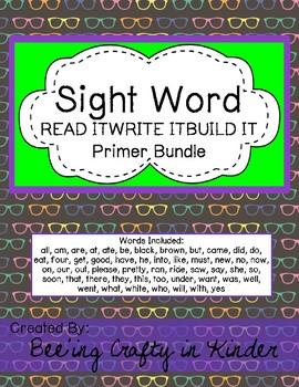 Sight Word - Read,Write,Build - PRIMER