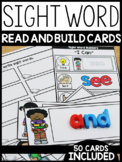 Sight Word Read and Build Cards (EDITABLE)