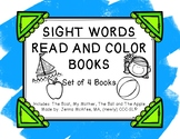 Sight Word Read and Color Books Set 2: (4 books included)