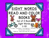 Sight Word Read and Color Books Set 6: (5 books included)