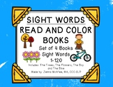 Sight Word Read and Color Books Set 7: (4 books included)