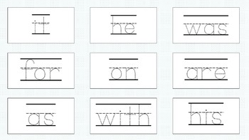 Sample Sight Word Read and Trace