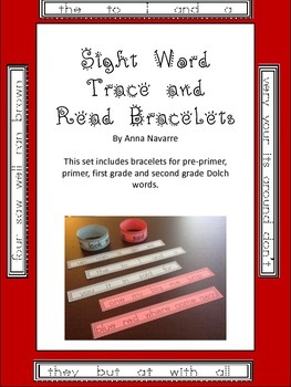 Sight Word Read and Trace Bracelets