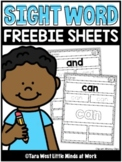 Sight Word Read and Write Sheets | FREE DOWNLOAD |