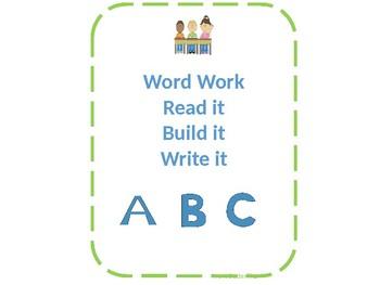 Sight Word Read it, Build it, Write it Mats