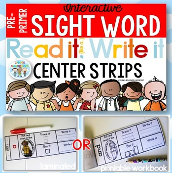 Sight Word Read It and Write It Strips PRE-PRIMER