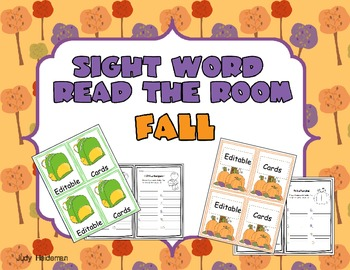Sight Word Read-the-Room Fall