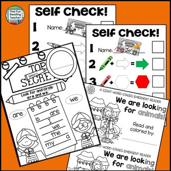 Guided Reading: Level A Detective Sight Word Reader and Activity Set!