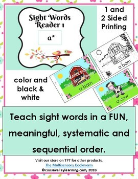 Sight Word Reader #1 color, B&W