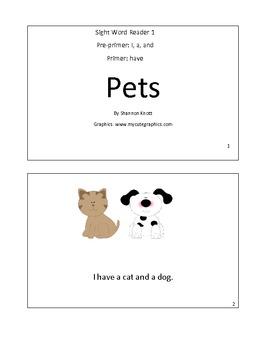 Sight Word Reader 1-PETS