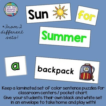 Sight Word Leveled Readers and Activities: Summer and School themes!