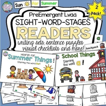 Sight Word Readers, Activities: Summer, School!