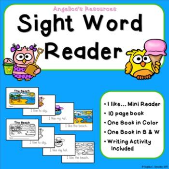 Sight Word Reader (Beach Theme)
