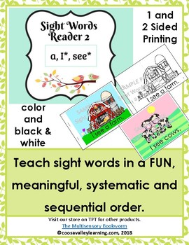 Sight Word Reader #2 color, B&W