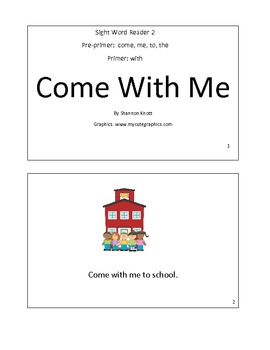 Sight Word Reader 2-Come With me