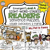 Sight Word Leveled Readers and Activities: Animals!