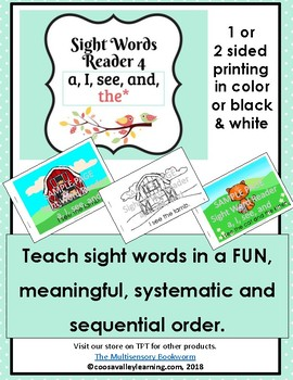 Sight Word Reader #4 color, B&W