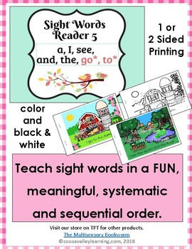 Sight Word Reader #5 color, B&W