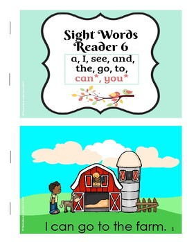 Sight Word Reader #6 color, B&W