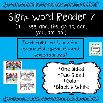 Sight Word Reader #7 color, B&W