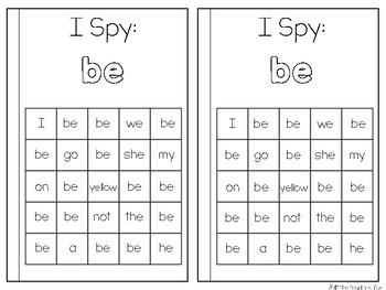 Sight Word Reader {Be}
