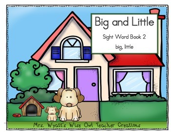 ‪Sight Word Reader Book 2: Little and Big (Preprimer Words)