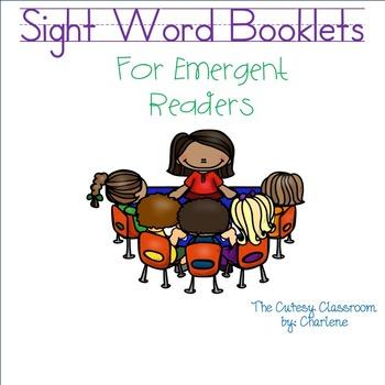 Sight Word Reader Booklets ELA CCSS RF.K.1a, RF.K.1b, RF.K.1c, RF.K.3c, RF.K.4