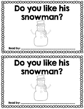 Sight Word Reader: Build a Snowman