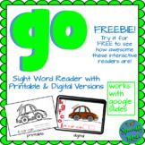 Sight Word Reader GO Digital Printable Google preprimer di