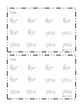 Sight Word Reader -For you (Valentine Theme)