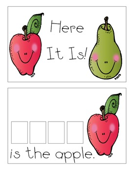 Sight Word Reader-Here (Fruit)