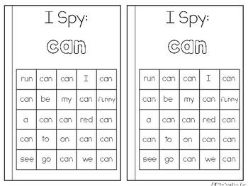 Sight Word Reader {I , Can}