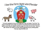 Sight Word Reader, I, See, The (Farm theme)