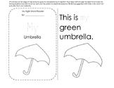 Sight Word Reader: My Umbrella// Sight word focus: My