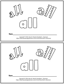 Sight Word Activity - Sight Word Book - ALL