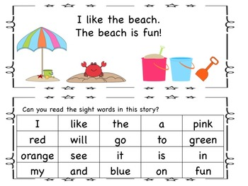 Sight Word Reader, Sight Word Games, and Puzzles!