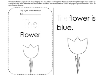 Sight Word Reader: The Flower// Sight Word Focus: The