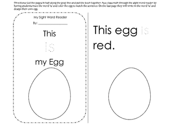 Sight Word Reader: This is my egg// sight word: is