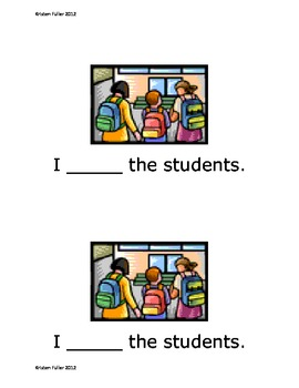 Sight Word Reader: What Do I See At School?