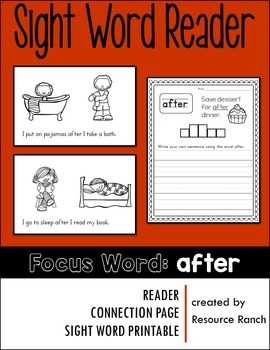 Sight Word Reader - after