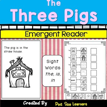 Sight Word Reader and Pocket Chart Cards The Three Little Pigs