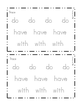 Sight Word Reader- do with have and -at word family words