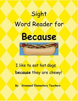 Sight Word Reader for Because