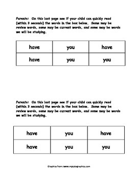 Sight Word Reader - have