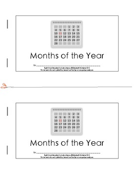 Sight Word Reader (have, we, in) about the Months of the Year