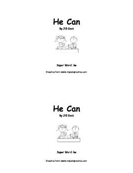 Sight Word Reader - he