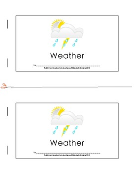 Sight Word Reader (is) about Weather